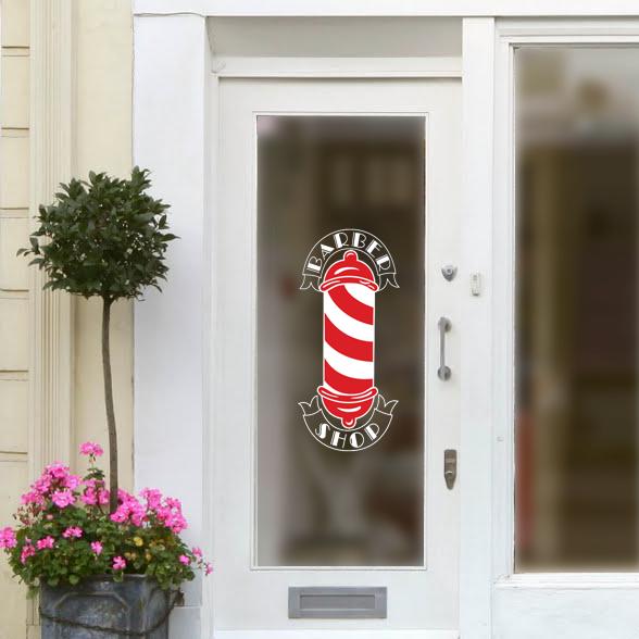 Barbers Shop Pool LARGE Hairdressers Hair Salon Window Sticker 57cm x 50cm A045