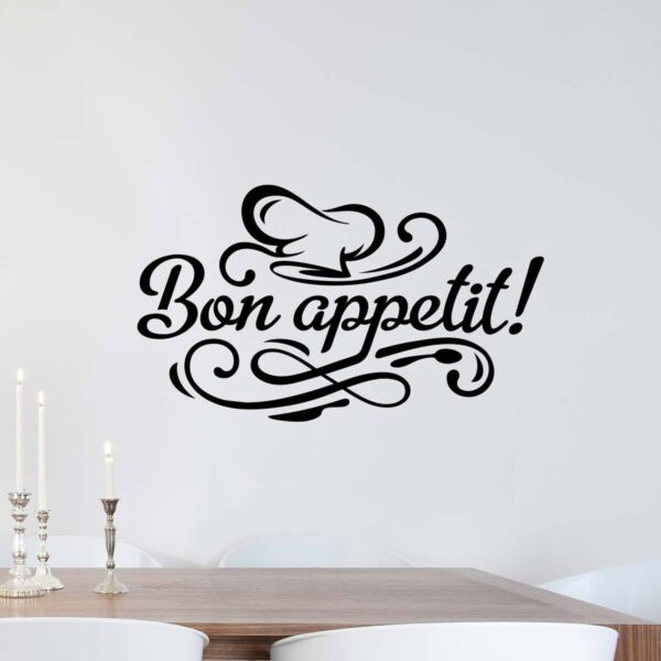 Bon appetit wall sticker kitchen