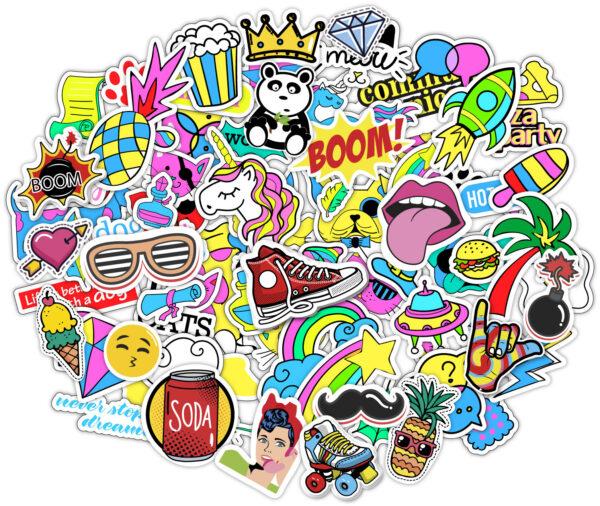 sticker bomb set decals macbook skateboard graphics