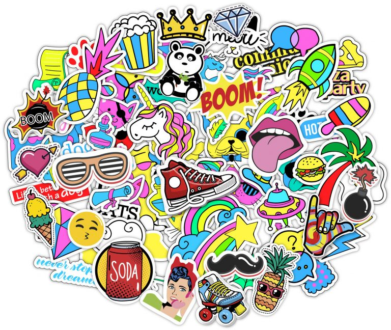 sticker bomb set decals macbook skateboard graphics