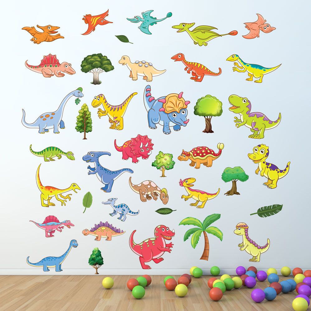 Dino Listing · Children Room Wall Stickers Dinosaurs Nursesy