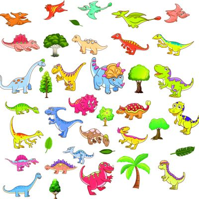 children room wall stickers dinosaurs nursesy