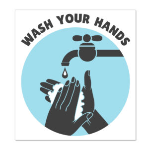 wash hands wall sticker home children