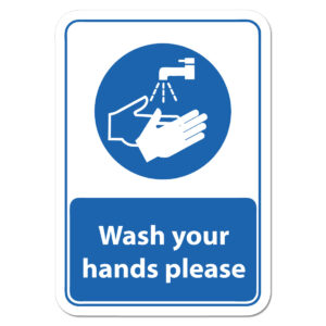 wash hands warning signs