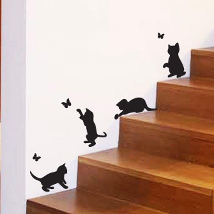 Cats-Catching-butterflies-playing-home-Vinyl-Wall-Sticker-Decor-Decal-Mural-Pet-253682968020
