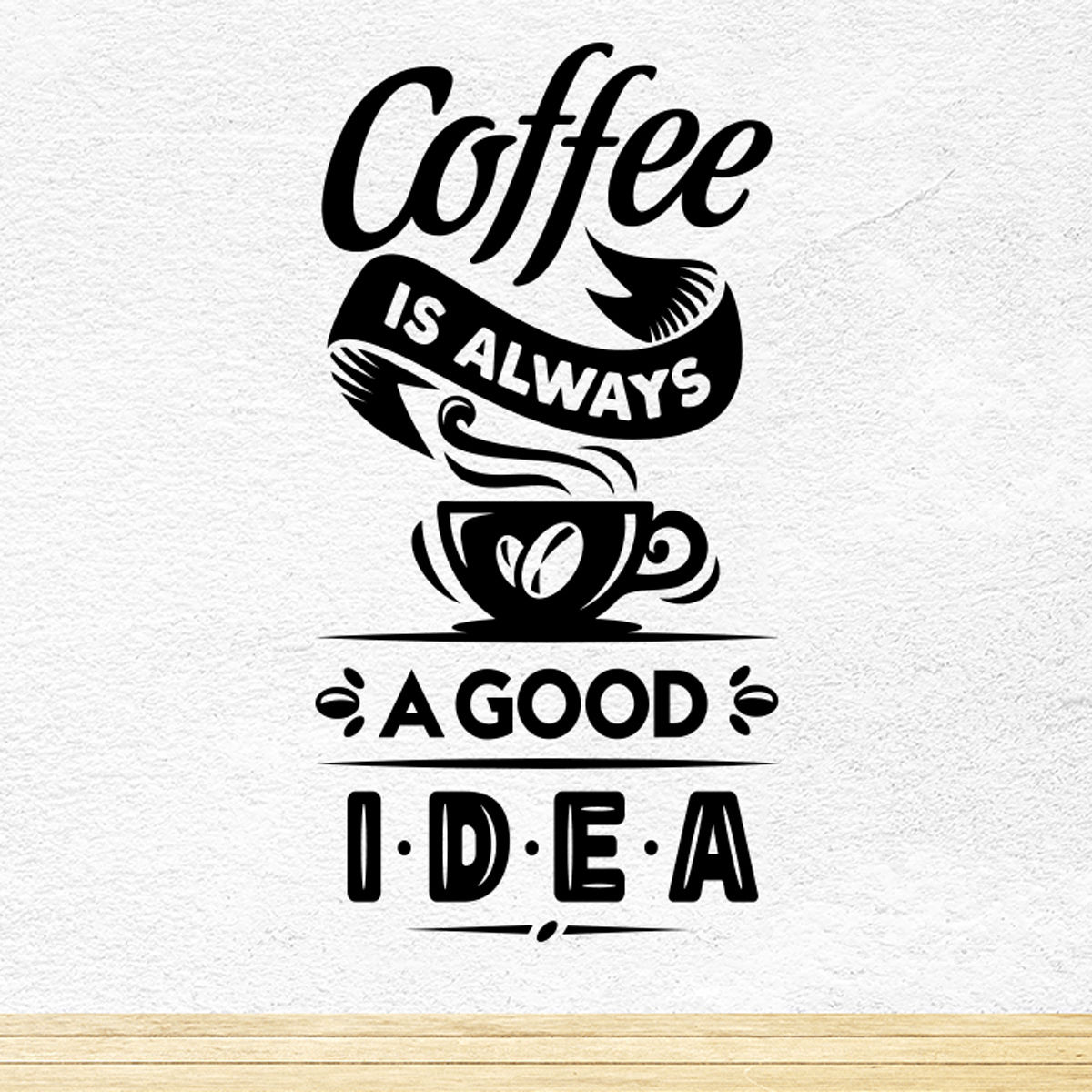 Coffee Good Idea Cup Kitchen Wall Sticker Vinyl Decal Art