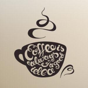 Coffee-Good-idea-Kitchen-Wall-Sticker-Vinyl-Decal-Art-Restaurant-Pub-Decor-252251909940