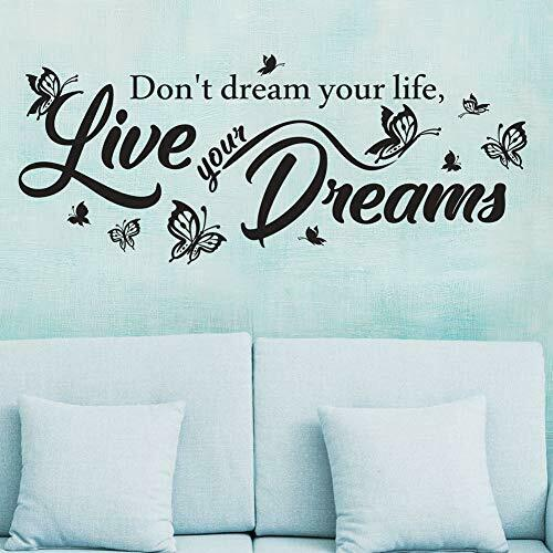 Dont-dream-your-life-live-your-dreams-wall-decal-removable-vinyl-sticker-mural-264388617710