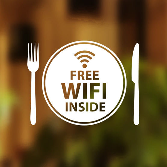 Free Wifi Cafe Stickers Free Wifi Signs Shop Online
