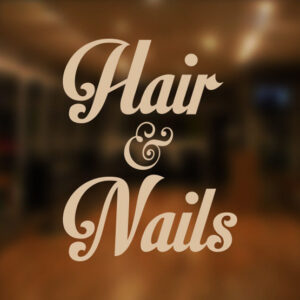 Hair-and-Nails-Beauty-Salon-Shop-Vinyl-Sign-Women-Hairdressers-Window-Sticker-252087531910