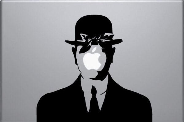 Laptop-Vinyl-Sticker-Rene-Magritte-Son-of-Man-sticker-macbook-decal-art-apple-252087499710