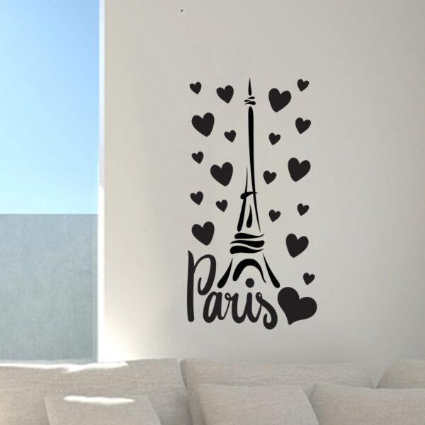 Paris-France-Eiffel-tower-love-wall-art-decal-decor-vinyl-sticker-mural-252522691730