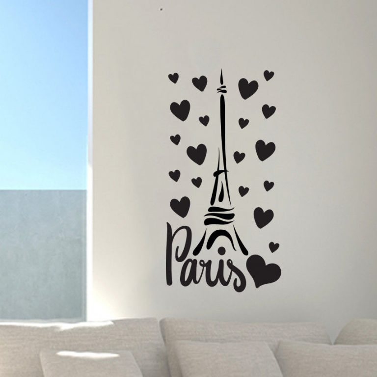 Paris-France-Eiffel-tower-love-wall-art-decal-decor-vinyl-sticker-mural-252522691730