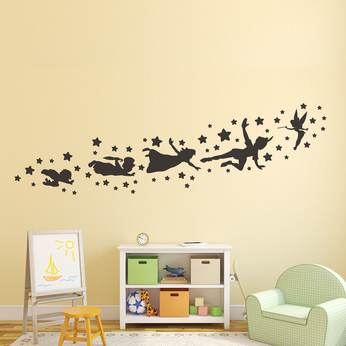 Peter pan wall decal removable vinyl sticker mural christmas kids ...