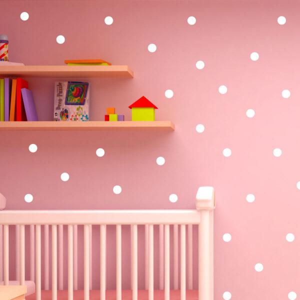 Polka-Dot-Wall-Stickers-Decal-Childs-Kids-Vinyl-Art-home-Decor-spots-Mural-120-252711049160