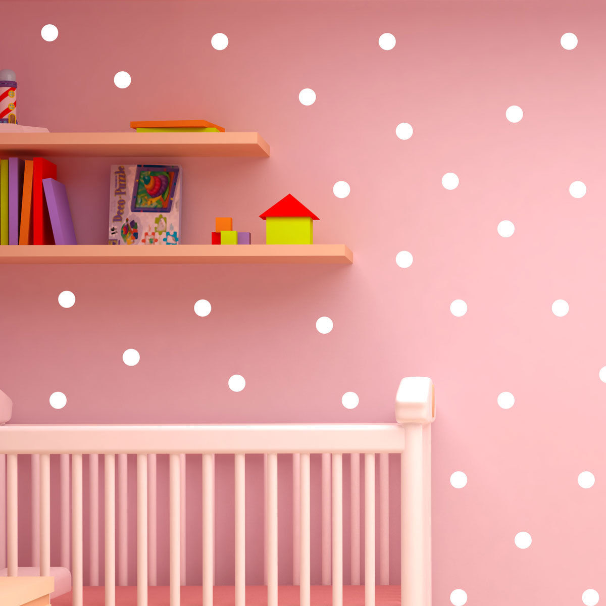 Polka dot wall stickers decal childs kids vinyl art home for Decal wall art mural