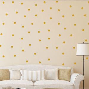 Polka-Dot-Wall-Stickers-Gold-Decal-Kid-Vinyl-Art-home-Decor-spots-Mural-100pcs-263222905870