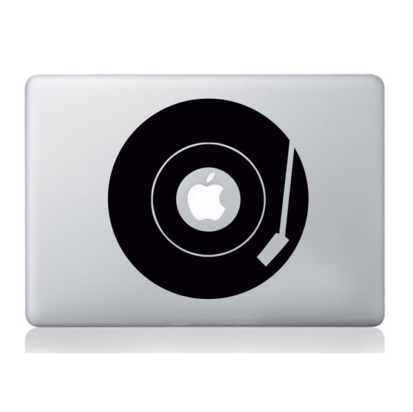 Record-player-turntable-Laptop-Vinyl-sticker-macbook-decal-art-apple-mural-love-252835670190