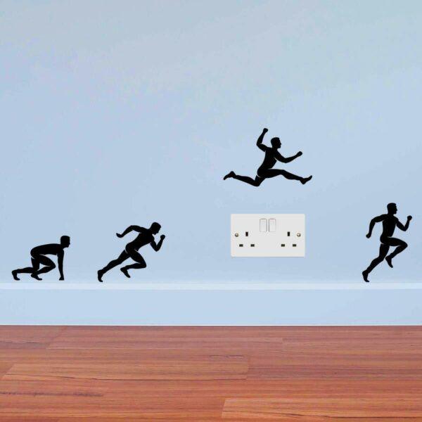 Runners-Jumping-Men-Sport-Wall-Sticker-power-socket-plate-light-switch-Wall-264388672430