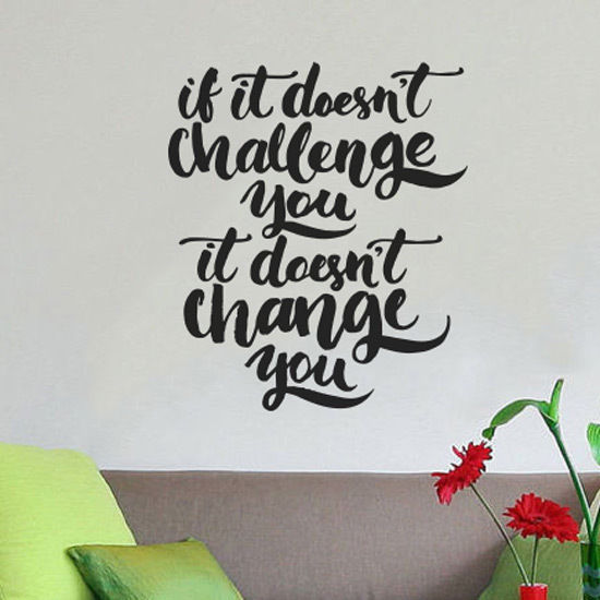 Wall Quote Motivational Home Wall Decor Vinyl Sticker