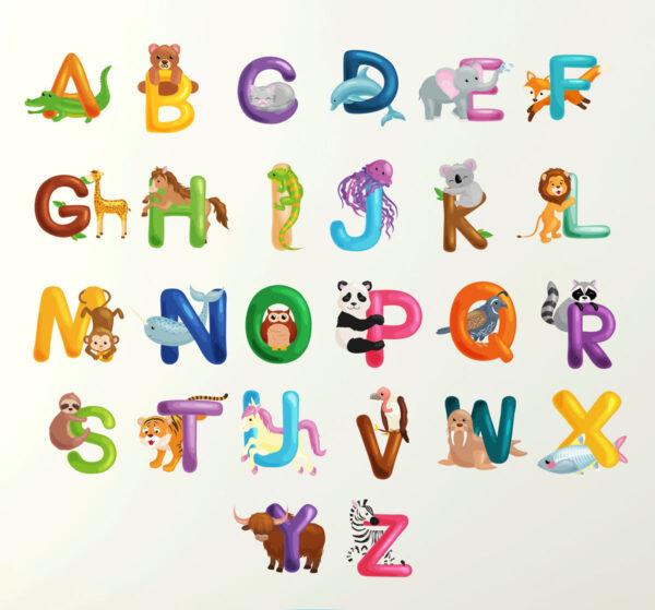 Alphabet-Wall-Sticker-70cm-Learn-letters-kids-room-decal-children-art-mural-263092692401