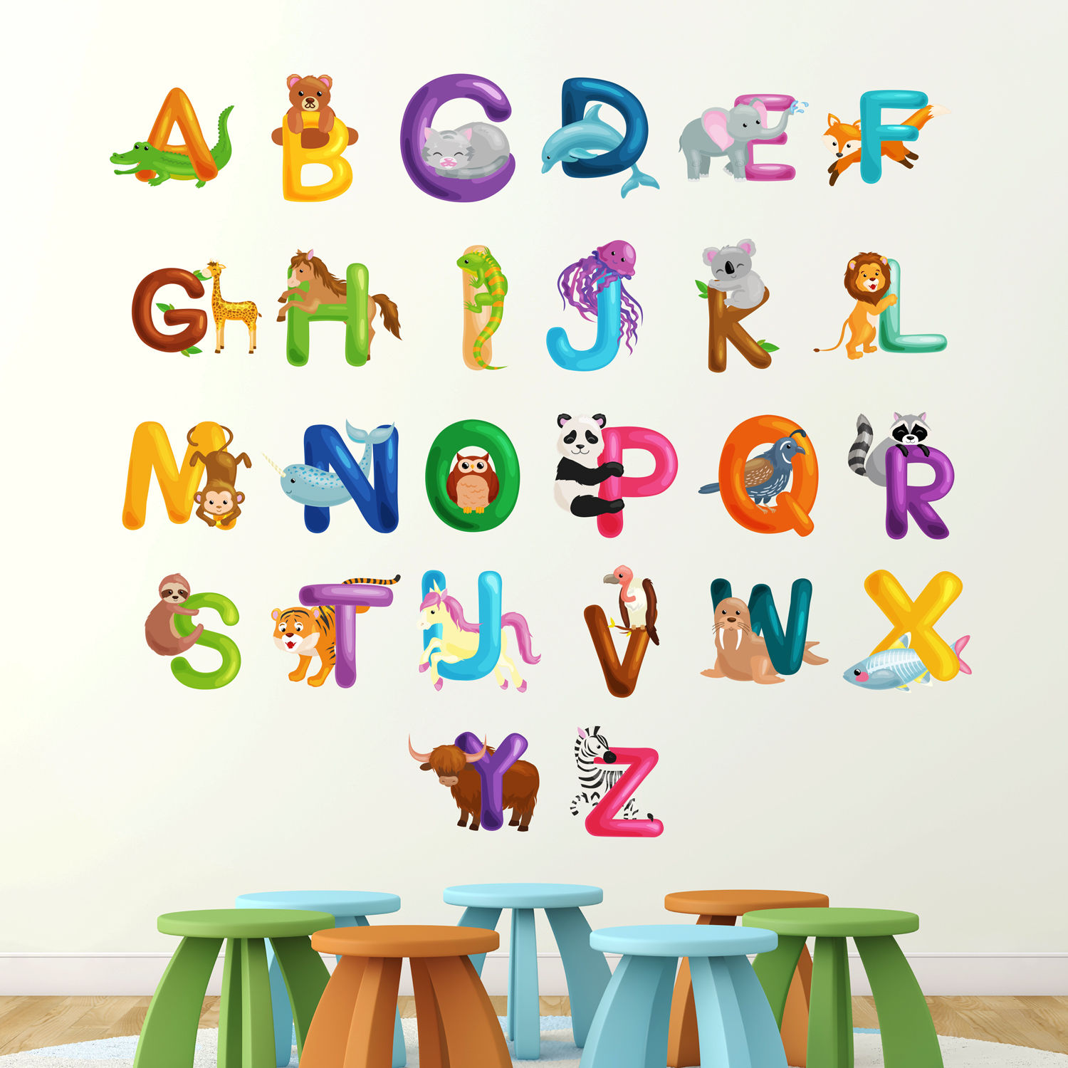 Children 39 s room stickers nursery wall decals kids room for Wall letters kids room