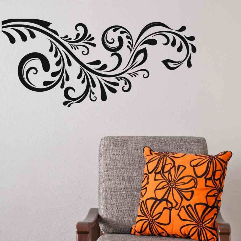 Flowers-Vines-Wall-Sticker-Floral-Vinyl-Decal-Art-Decoration-Graphics-Wallpaper-252871552671