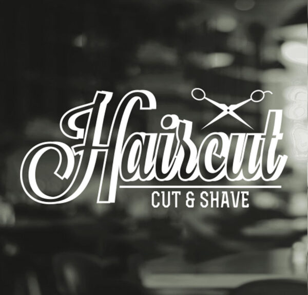 Haircut-Barber-Shop-Gentlemens-Hair-Men-Salon-Window-Vinyl-Sign-Sticker-Beauty-252522805281