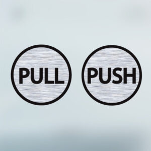 Pull-Push-Door-6cm-Stickers-Shop-Window-Salon-Cafe-Office-Vinyl-Brushed-Sign-263161176691