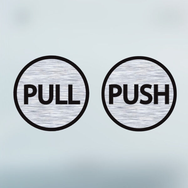 Pull-Push-Door-6cm-Stickers-Shop-Window-Salon-Cafe-Office-Vinyl-Brushed-Sign-263161176691