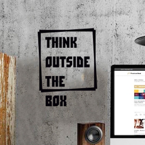 Think-Outside-the-Box-Wall-Quote-Vinyl-Sticker-Decal-Decor-Love-Art-Mural-262922090161
