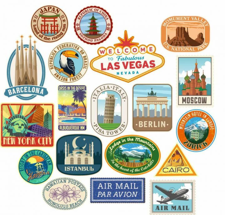 20x-Luggage-stickers-suitcase-patches-vintage-travel-labels-retro-vinyl-decals-264388819162