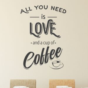 All-you-need-is-Coffee-Wall-Sticker-Vinyl-Decal-Art-Pub-Cafe-Decor-Mural-Graphic-253606119212