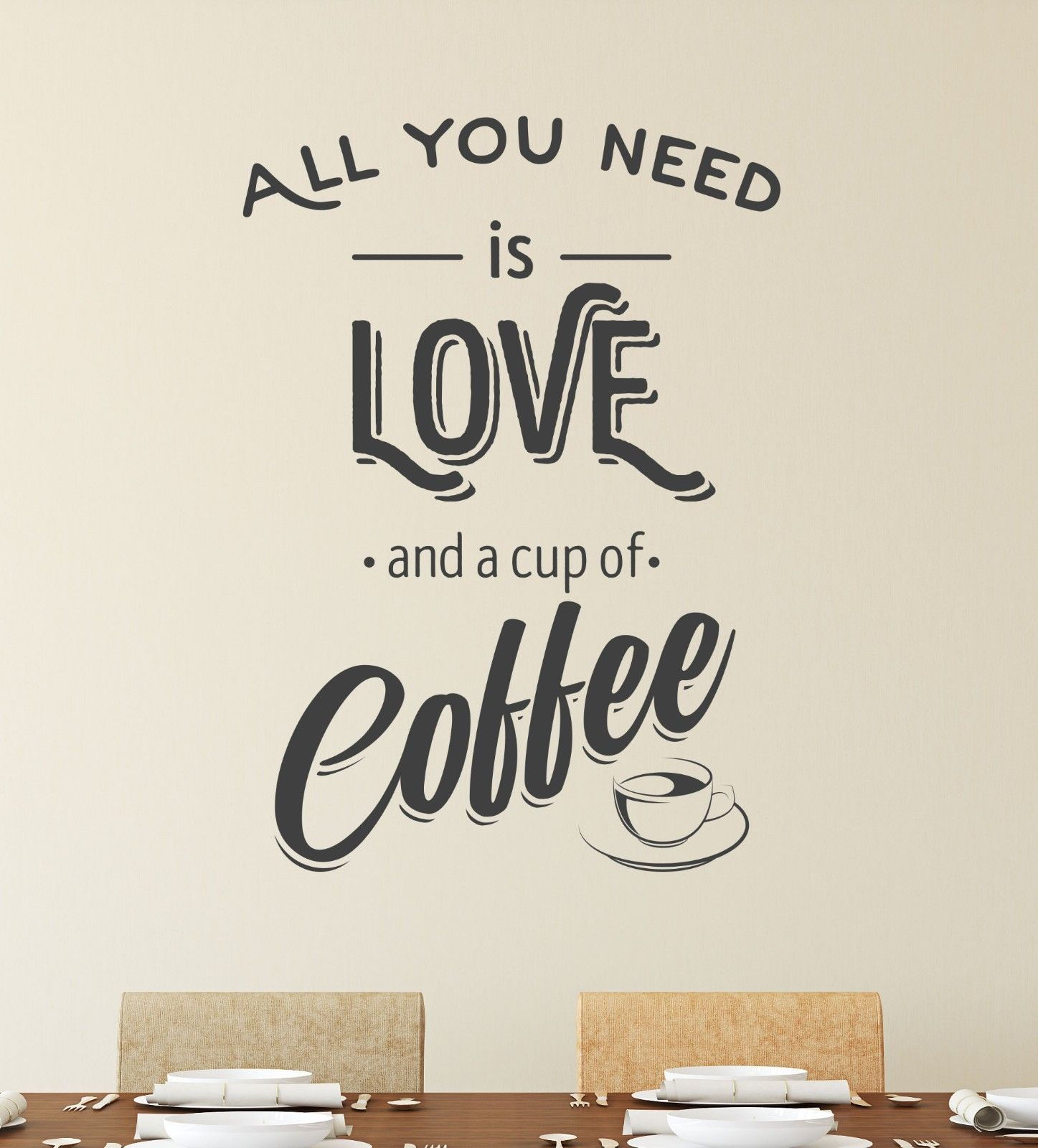 All you need is coffee wall sticker vinyl