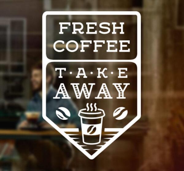 Fresh-Coffee-Takeaway-Cafe-Shop-vinyl-sticker-Window-Wall-art-sign-decor-Mural-263965553212