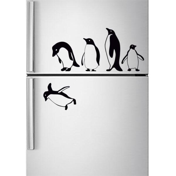 Penguins-fridge-stickers-jumping-flying-funny-Vinyl-Decor-Decal-Mural-KItchen-263291802152