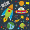 Rocket-Space-Ship-Outta-Space-UFO-planets-Learning-Wall-Stickers-Kids-Decals-Car-263279852316-2