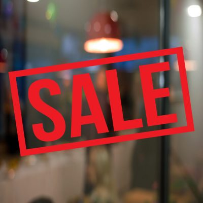 Sale window stickers
