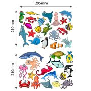 Sealife-Fishes-Bathroom-Wall-Stickers-Kids-Decals-Cartoon-Octopus-Games-34pcs-253067863802-2