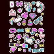 Unicorn-stickers-girls-kids-laptop-children-Scrapbook-diary-album-decals-nursery-253211458067-2