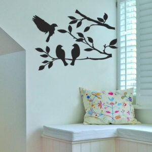 Birds-on-Tree-Vinyl-Wall-Sticker-Decal-Livingroom-Children-Nursery-Mural-KItchen-252095216183