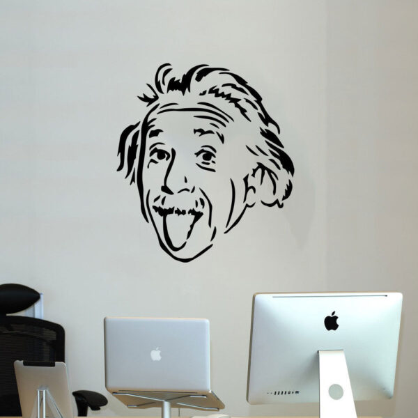 Einstein-tongue-office-wall-sticker-apple-living-room-workshop-decal-art-vinyl-262492610483