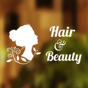 Hair Beauty salon sticker sign