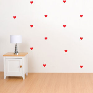Hearts-Polka-Dot-Wall-Stickers-Decal-Childs-Kid-Vinyl-Art-home-Decor-spots-Mural-253381898803