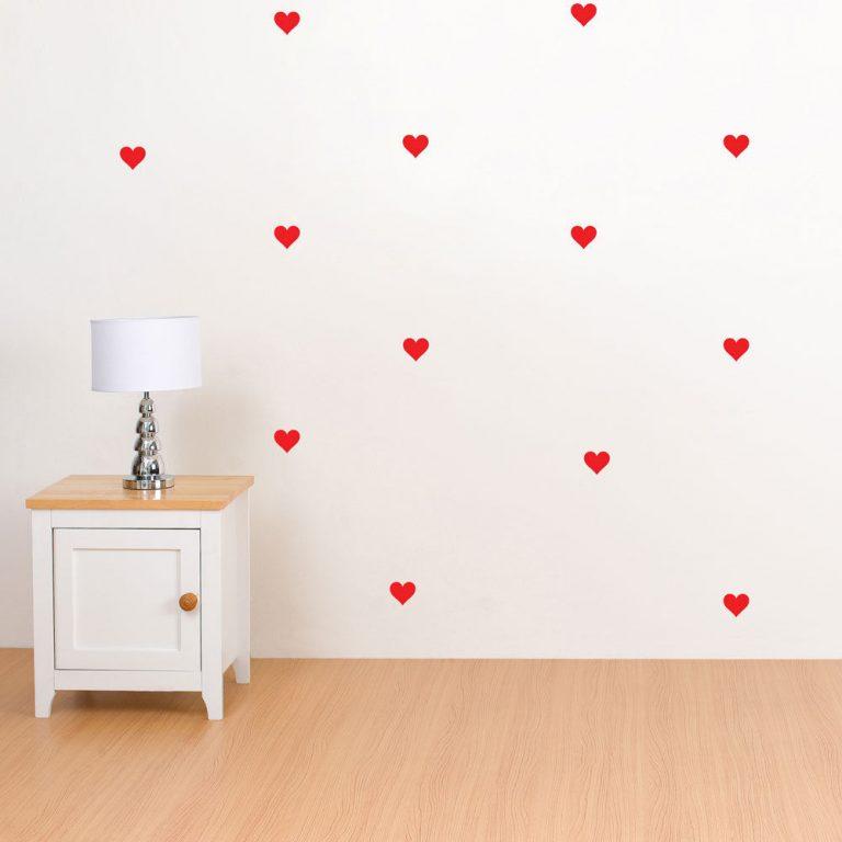 Hearts-Polka-Dot-Wall-Stickers-Decal-Childs-Kid-Vinyl-Art-home-Decor-spots-Mural-253381898803