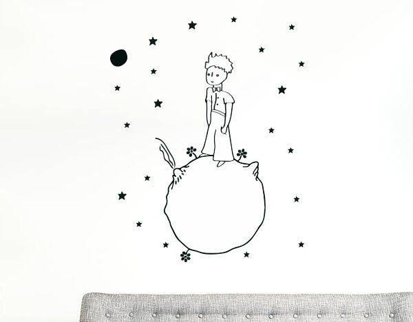 Little-prince-wall-decal-vinyl-sticker-christmas-kids-children-art-silhouette-262238625753