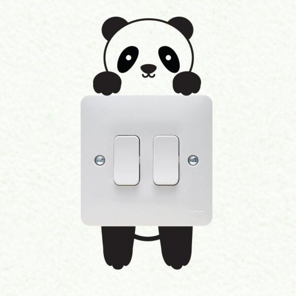 Panda-Wall-plate-light-switch-Wall-Sticker-Vinyl-Decal-Mural-home-decoration-252613971013