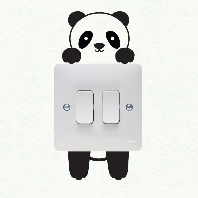 Panda-Wall-plate-light-switch-Wall-Sticker-Vinyl-Decal-Mural-home-decoration-252613971013