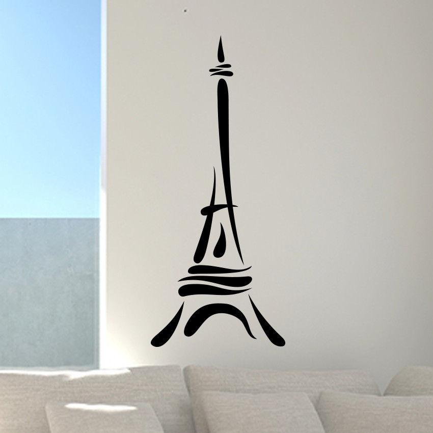paris eiffel tower love wall art decal decor vinyl sticker graphics home