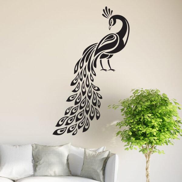 Peacock-Wall-Sticker-Birds-Decal-Art-Livingroom-Vinyl-Mural-Graphics-Hall-Decor-252525819423
